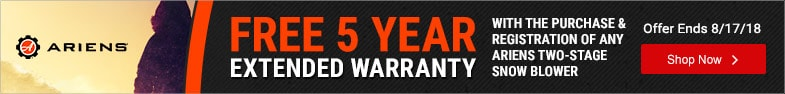 (2) Ariens - 5YR Warranty Extension on Two-Stage Blowers