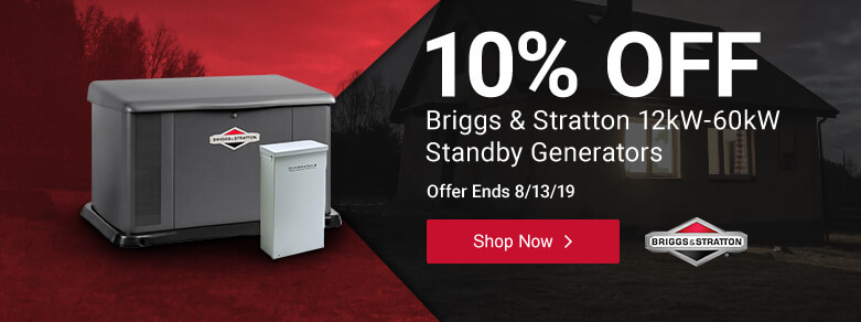 Briggs - Save 10% On Select 12kW - 60kW Standbys
