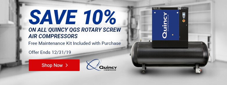 Quincy - 10% Off All Rotary Screw Compressors