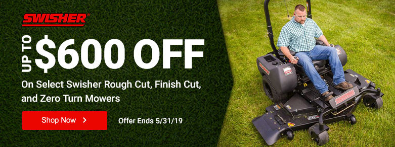 Swisher - Up to $600 Off Select Rough, Finish Cut, & Zero Turn Mowers