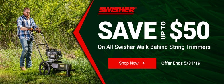 Swisher - UT $50 Off All Walk Behind String Trimmers