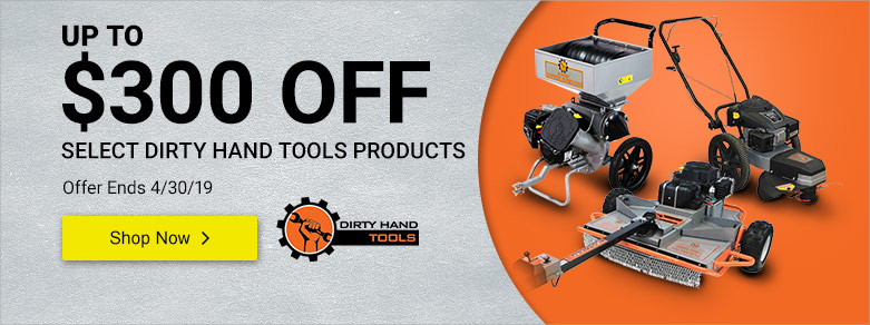 Dirty Hand Tools - Up to $250 Off Rough Cut Mowers