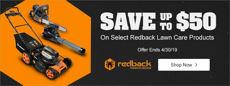 Redback - Save $50 On Cordless Lawn Mower