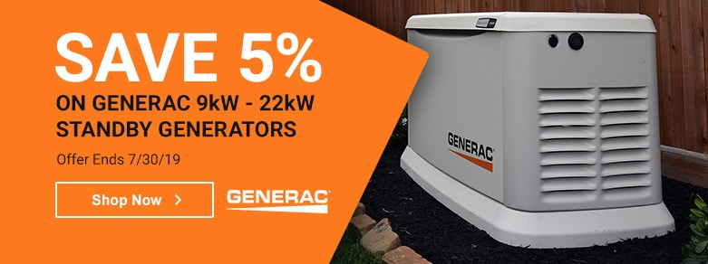Generac - 5% Off Select 16-22kW Standby Generators