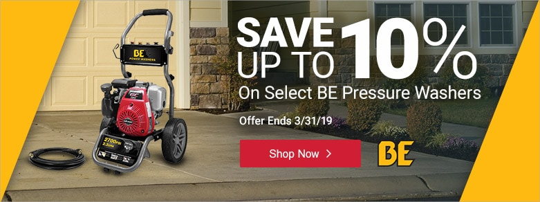 BE - Up to 10% Off Select pressure Washers