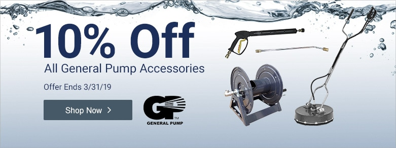 General Pump - 10% Off All Accessories