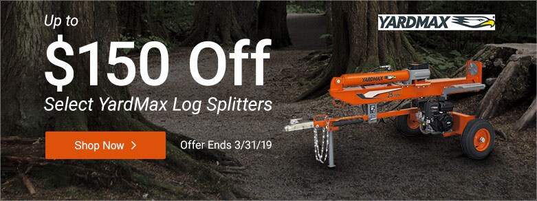 YardMax - Up to $150 Off Select Log Splitters