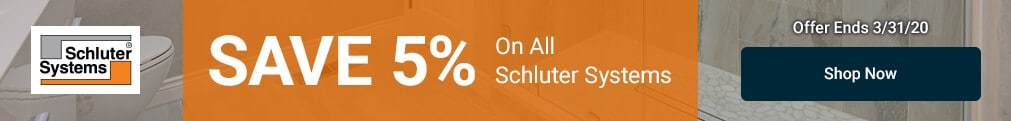 Schluter - 5% Off All Schluter Systems
