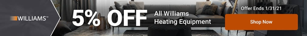 Williams - 5% Off All Heating Products