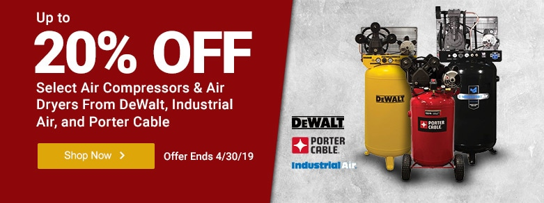 Multibrand - UT 20% Off Select Compressors & Air Dryers