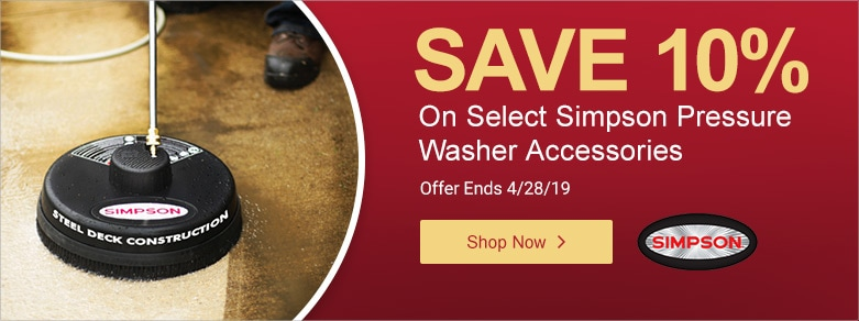 Simpson - 10% Off Select PW Accessories - 041719