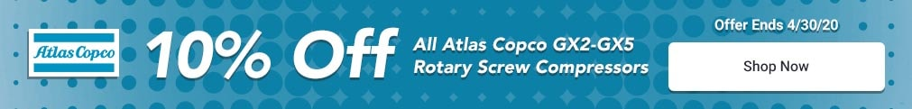 Atlas Copco - 10% Off Select 3-20HP Rotary Comps - V2