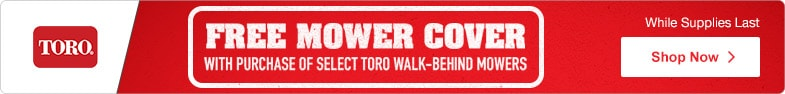 (1) Toro - Free Cover With Select Walk-Behinds