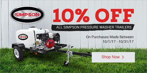 (1) Simpson - 10% Off All Pressure Washer Trailers
