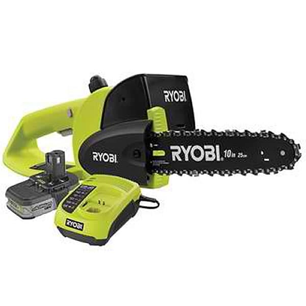 "Ryobi ONE+ P543 (10"") 18-Volt Cordless Lithium-Ion Chainsaw w/ Battery & Charger"