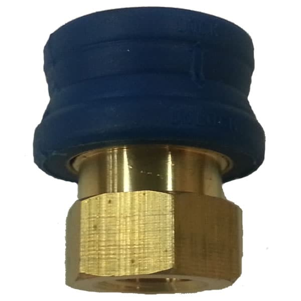 "MTM Hydro 3/8"" Female Insulated Collar Brass Quick Connect Coupler"