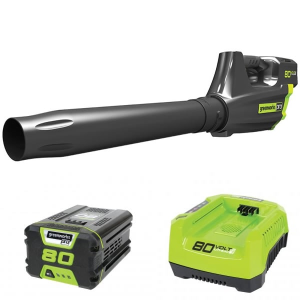 GreenWorks PRO 80-Volt Lithium-Ion Cordless Jet Blower (with Battery & Charger)
