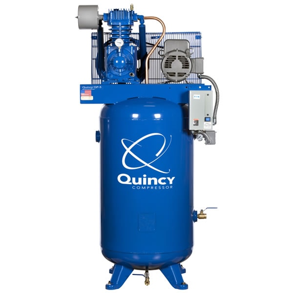 Quincy 5-HP 80-Gallon Pressure Lubricated Two-Stage QP Pro Air Compressor (230V 1-Phase)