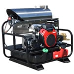 Pressure-Pro Professional 4000 PSI (Gas-Hot Water) Belt-Drive Skid Pressure Washer w/ Generator
