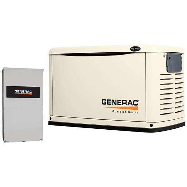 Generac Guardian� 16kW Standby Generator System (200A Service Disconnect + AC Shedding)