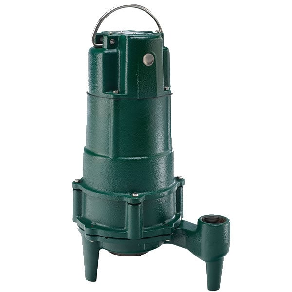 "Zoeller N803 - 1/2 HP Cast Iron Residential Grinder Pump (1-1/4"") (Non-Automatic)"