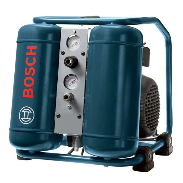 Bosch 1-HP 3-Gallon Contractor Vertical Twin Stack Air Compressor