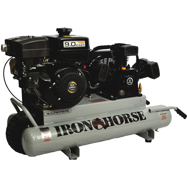 Iron Horse 9-HP 10-Gallon Gas Wheelbarrow Air Compressor