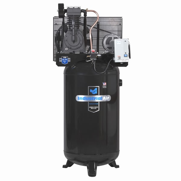 Industrial Air 5-HP 80-Gallon Two-Stage Air Compressor With Starter (230V 3-Phase)