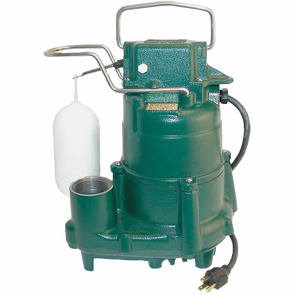 Zoeller M98 - 1/2 HP Cast Iron Submersible Sump Pump w/ Vertical Float Switch