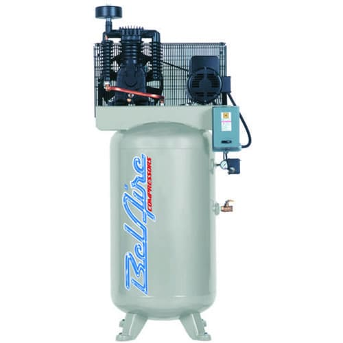 BelAire 7.5-HP 80-Gallon Two-Stage Air Compressor (208-230V 3-Phase) w/ Magnetic Starter