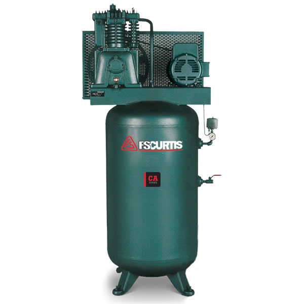 FS-Curtis (CA7.5) 7.5-HP 80-Gallon Two-Stage Air Compressor (208V 3-Phase)