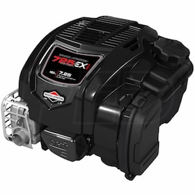 "Briggs & Stratton 725EXi™ Series 163cc Vertical Engine, 25mm x 3-5/32"" Crankshaft, 2 Woodruff Keys & 1/4"" Straight Keyway"