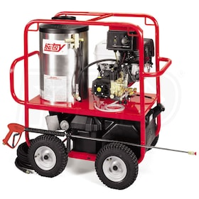 Hotsy Professional 3500 PSI (Gas - Hot Water) Pressure Washer w/ Honda Engine & Electric Start
