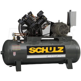 Schulz L-Series 20120HLV80BR-3 20-HP 120-Gallon Two-Stage Air Compressor (208V 3-Phase)