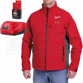 Milwaukee® M12™ Heated Jacket w/ Battery & Charger (Red / Extra Large)