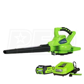 Greenworks G-Max DigiPro 40-Volt-4.0Ah Lithium-Ion Cordless Leaf Blower/Vacuum