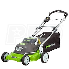 "Greenworks (18"") 24-Volt Rechargeable Cordless 2-In-1 Self Propelled Lawn Mower"