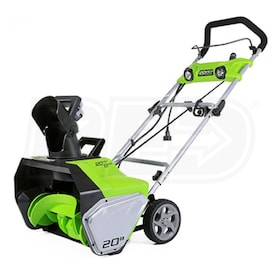 "Greenworks (20"") 13-Amp Electric Snow Blower w/ LED Lights"