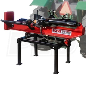 Boss Industrial 3-Point Tractor Mount Horizontal/Vertical Log Splitter (22 Ton Max Force)