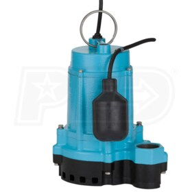 Little Giant 6EC-CIA-RF - 1/3 HP Cast Iron Submersible Sump Pump w/ Piggyback Tether Float Switch