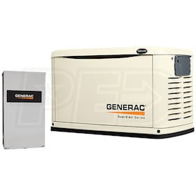 Generac Guardian™ 16kW Standby Generator System (200A Service Disconnect + AC Shedding)