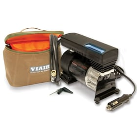 VIAIR 77P Sport Compact LED 12-Volt 80-PSI Portable Inflator Kit (30 Minutes @ 30 PSI) Up To 225/60R18 Size Tires