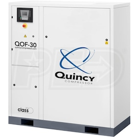 Quincy QOF 30-HP Oil-Free Tankless Scroll Compressor (460V 3-Phase 145 PSI)