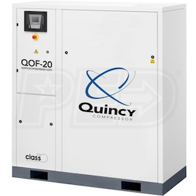 Quincy QOF 20-HP Oil-Free Tankless Scroll Compressor w/ Dryer (230V 3-Phase 116 PSI)