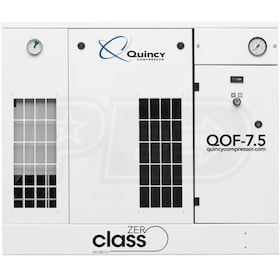Quincy QOF 7.5-HP Oil-Free Tankless Scroll Compressor w/ Dryer (208/230/460V 3-Phase 145 PSI)
