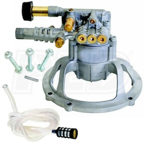 OEM Technologies Fully Plumbed 3000 PSI 2.4 GPM Vertical Axial Replacement Pressure Washer Pump Kit