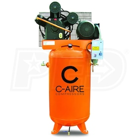 C-Aire 7.5-HP 80-Gallon Two Stage Air Compressor (208-230V 1-Phase)