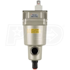 "SMC 3/4"" Micro Mist Separator With Element Service Indicator & Auto Drain (130 CFM)"