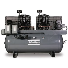 Atlas Copco AR20 20-HP 120-Gallon Two-Stage Duplex Compressor (460V 3-Phase)