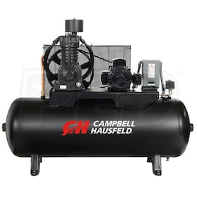 Campbell Hausfeld Commercial 7.5-HP 80-Gallon Two Stage Air Compressor (230V 3-Phase)